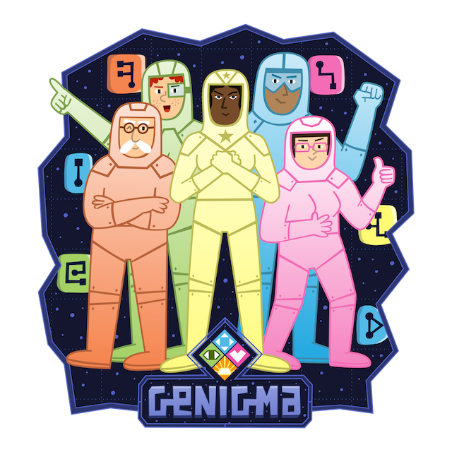 The Genigma game app visual